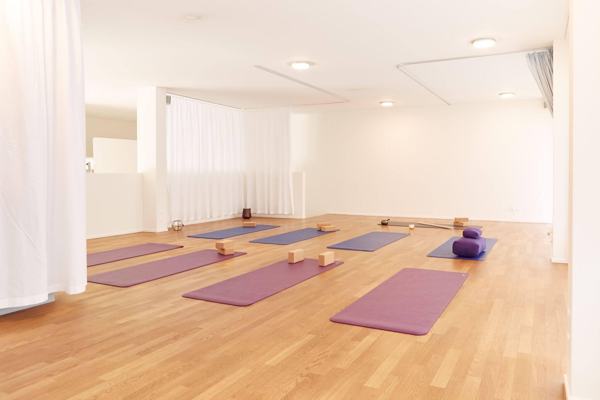 Bild vom Yogastudio im oberen Stockwerk