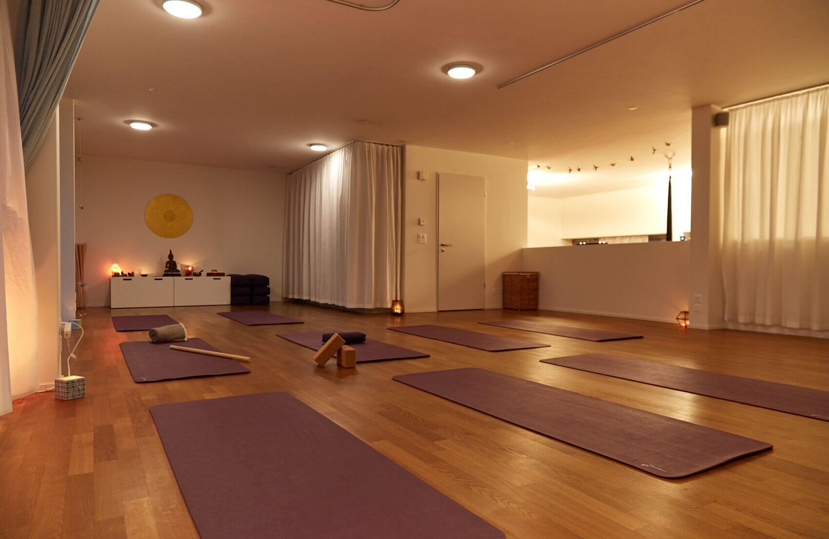 Yogastudio Luzern bei Abendlicht