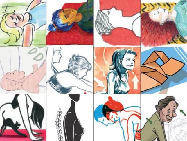 Skizzen für Rückenpflege