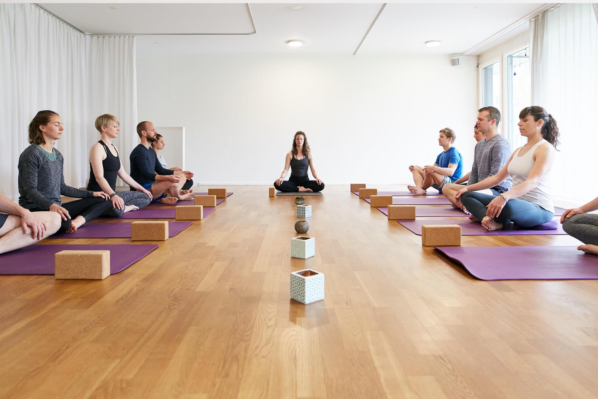 Yogastunde in Luzern